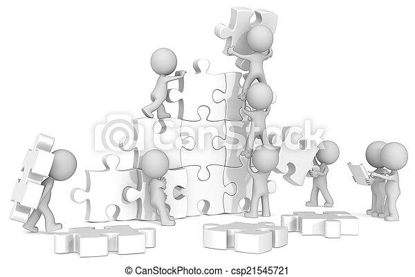 Equipo de construcción. - csp21545721