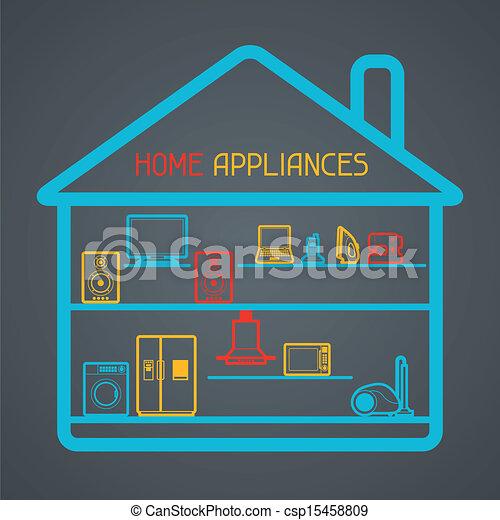 Aplicaciones caseras y antecedentes electrónicos. - csp15458809