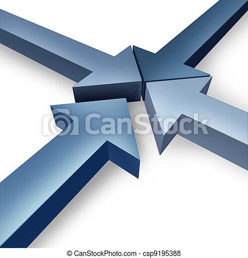 Equipo de negocios juntos - csp9195388