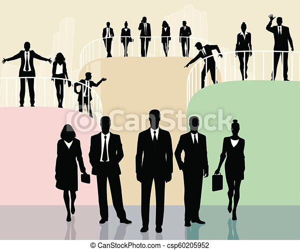 Equipo de gente de negocios - csp60205952