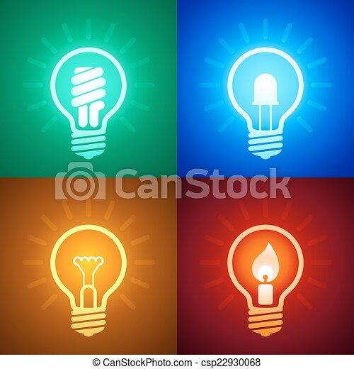 Evolución del equipo de iluminación - csp22930068
