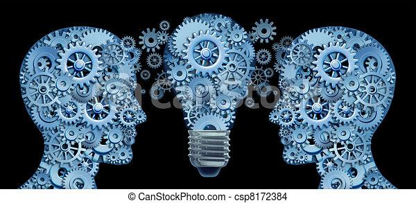 Trabajando juntos como equipo para la innovación - csp8172384