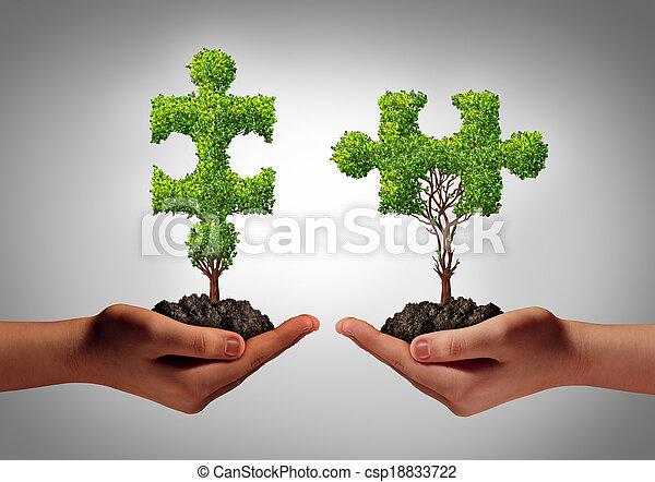 equipo negocio - csp18833722