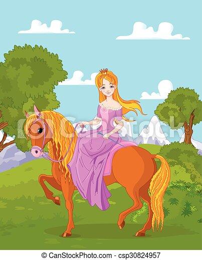 Princesa a caballo - csp30824957