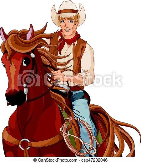 Vaquero a caballo - csp47202046