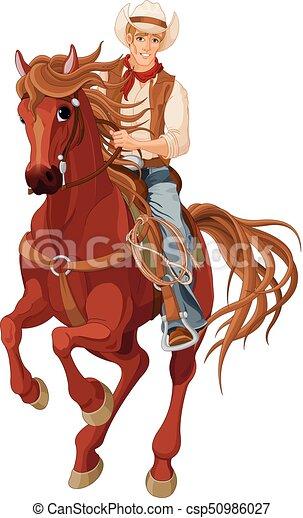 Vaquero a caballo - csp50986027