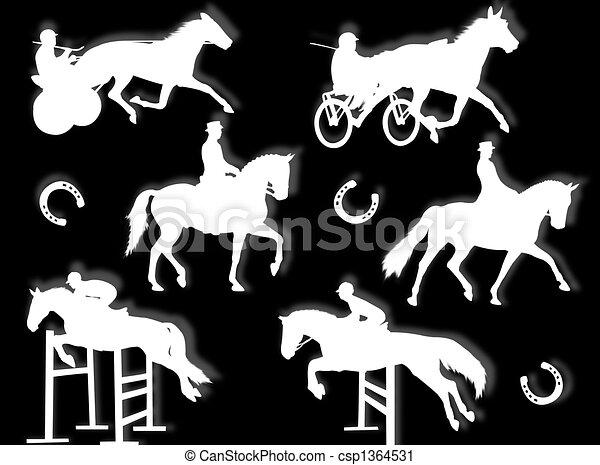 Equitation silhouette - csp1364531