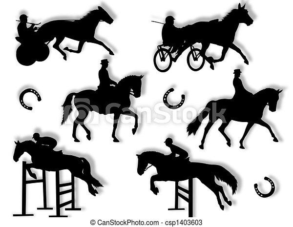 Equitation silhouette - csp1403603