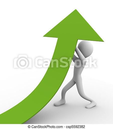 erőfeszítések, növekedés - csp5592382