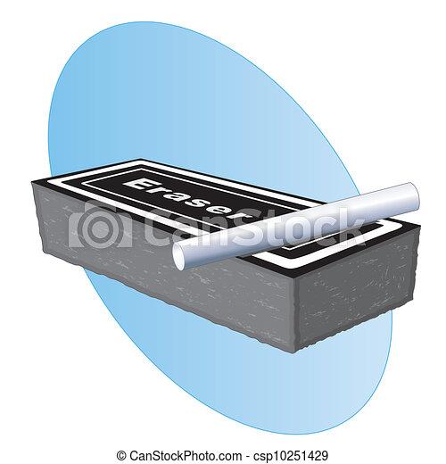 Eraser and Chalk - csp10251429