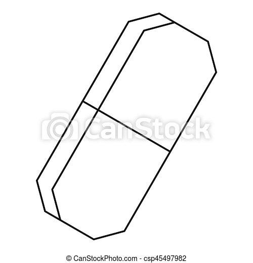 Eraser icon, outline style - csp45497982