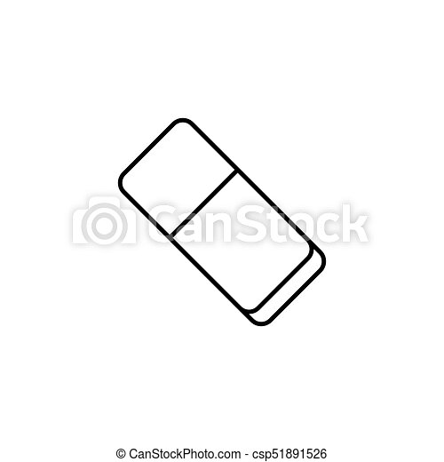 eraser line icon school and education element rubber vector graphics a linear pattern on a white background eps 10 can stock photo