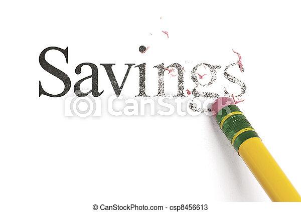 Erasing Savings - csp8456613