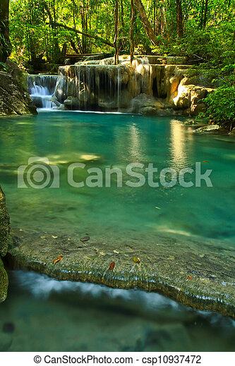 Erawan Waterfall in Kanchanaburi, Thailand - csp10937472