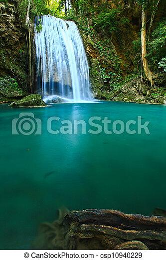 Erawan Waterfall in Kanchanaburi, Thailand - csp10940229