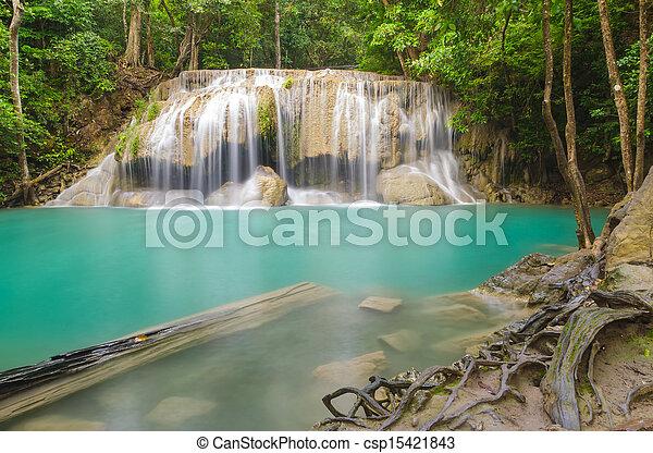 Erawan waterfall level 2. - csp15421843