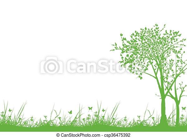 erba, albero - csp36475392