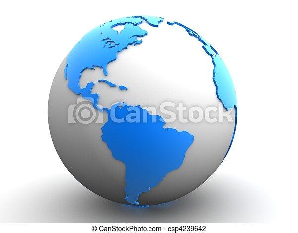 3D Globus - csp4239642