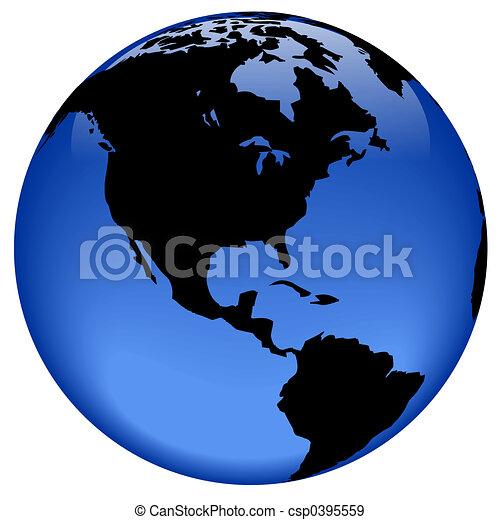 erdball, amerika, -, ansicht - csp0395559