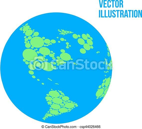 Vector abstrakter Globus isoliert auf weißem Hintergrund - csp44026466
