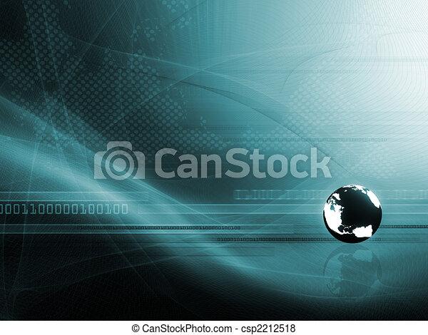 Hintergrund mit Globus - csp2212518