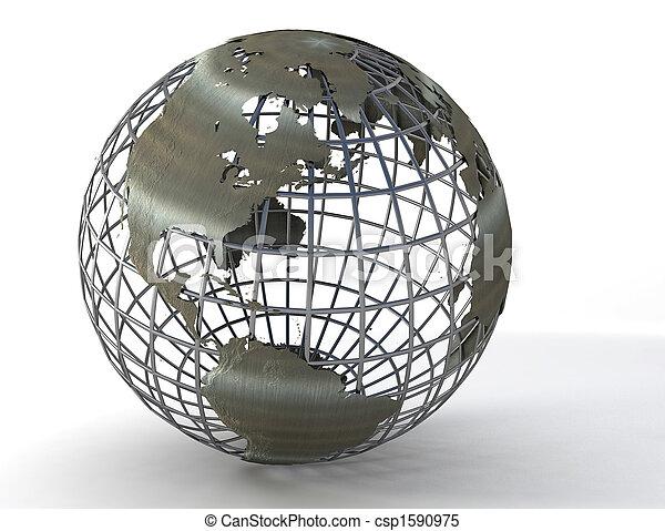 erdball, wireframe - csp1590975