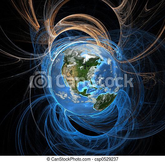erde, energie, felder, westen - csp0529237