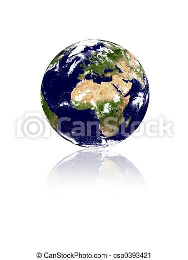 erde, isolat, planet - csp0393421
