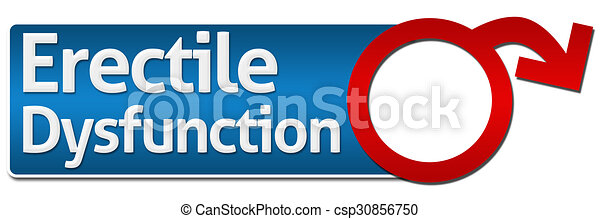 Erectile Dysfunction With Symbol  - csp30856750