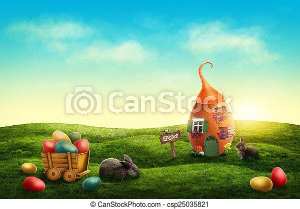 eredet, húsvét, kaszáló - csp25035821