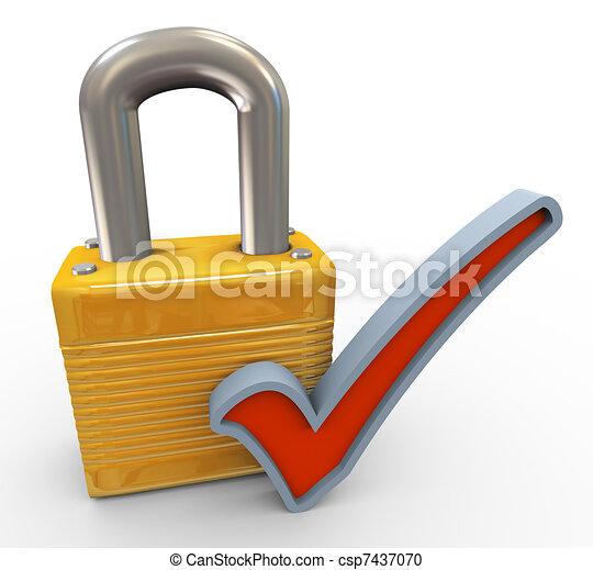 erfolgreich, sicherheit, begriff - csp7437070