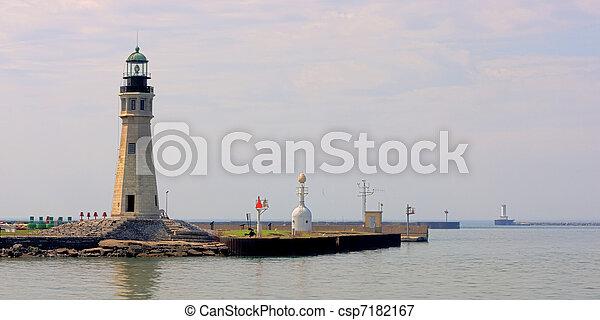 Erie Basin Marina Lighthouse - csp7182167