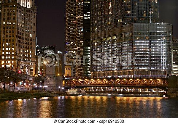 Illuminated chicago - csp16940380
