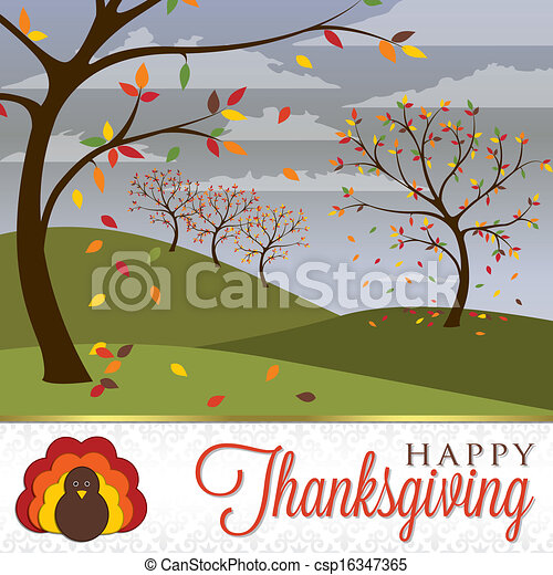 Frohes Thanksgiving - csp16347365