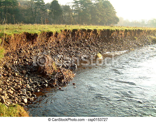 Eroded riverbank 2 - csp0153727