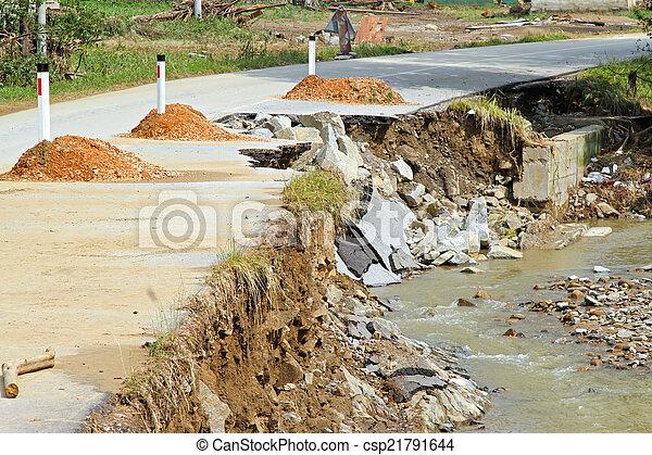 erosión de peligro - csp21791644