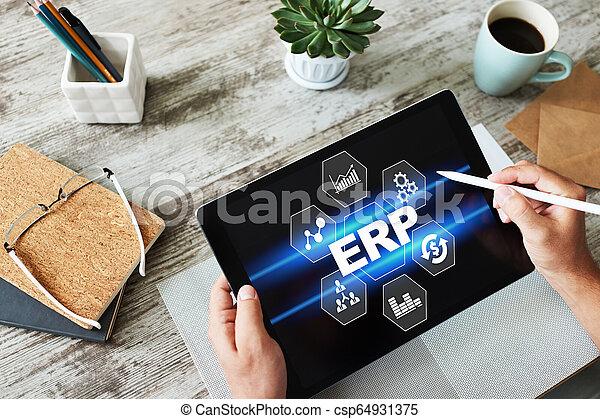 erp, 사업, system., automation., 과정, planning., 기업, 자원 - csp64931375