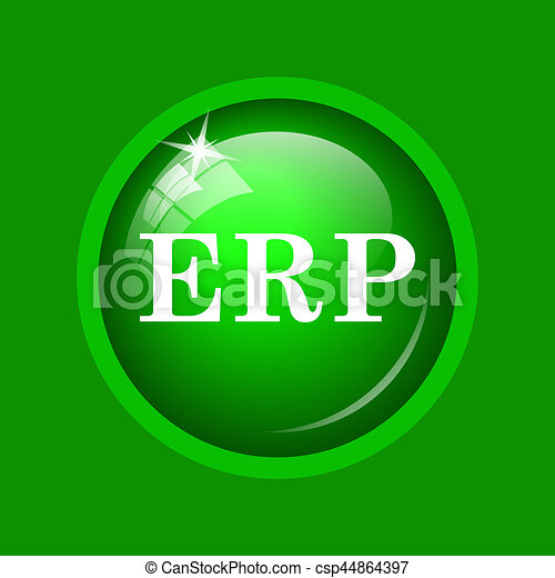 erp icon internet button on green background stock illustration
