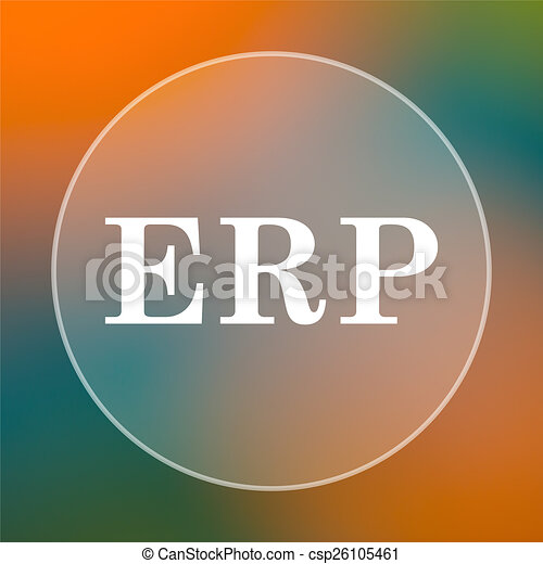 erp icon internet button on colored background