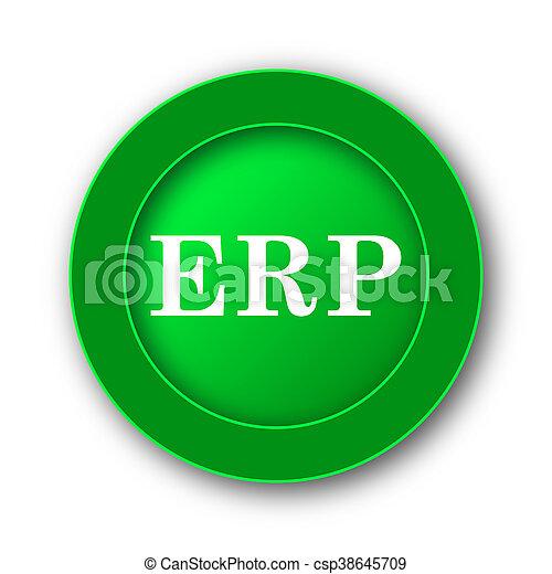 erp icon internet button on white background