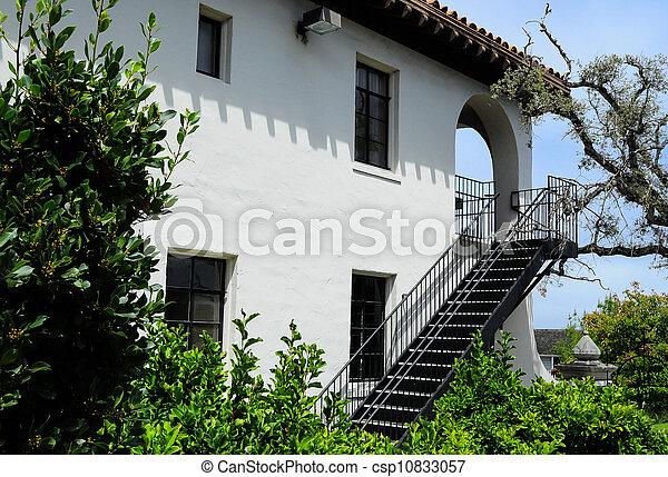 Errichtendes Ausseres Treppenaufgang Gebaude Weisses