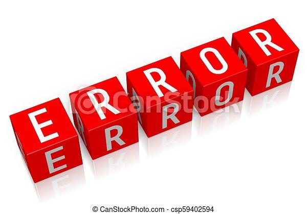 Error - 3D cube word - csp59402594