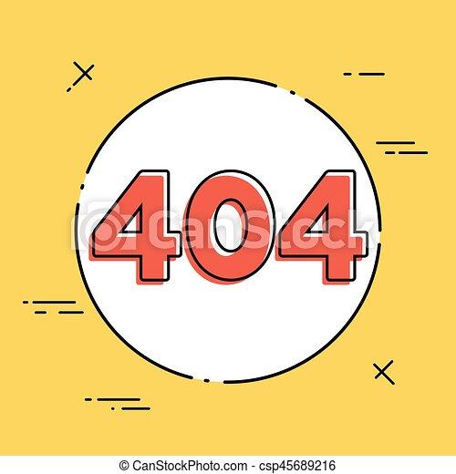 Error 404 concept - Minimal vector icon - csp45689216