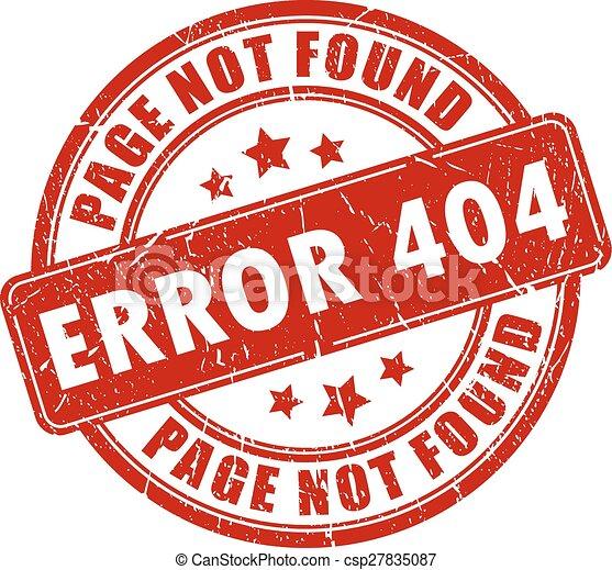 Error 404 stamp - csp27835087
