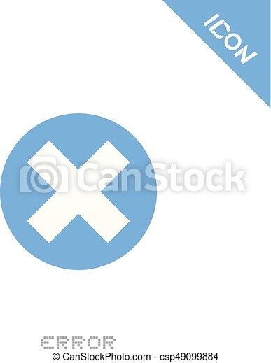 error icon - csp49099884