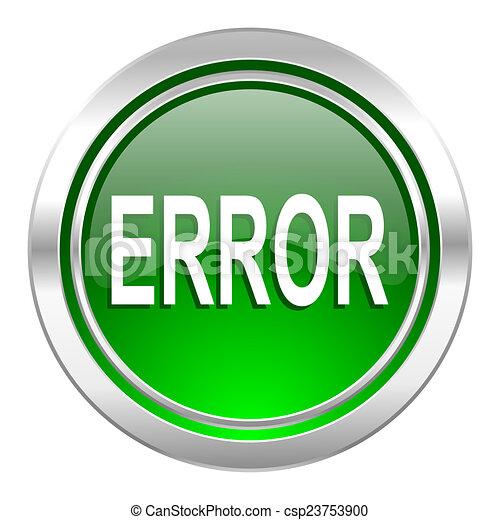 error icon, green button - csp23753900