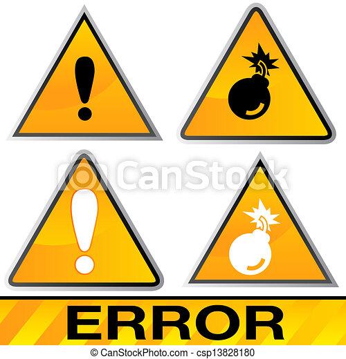 Error Icons - csp13828180