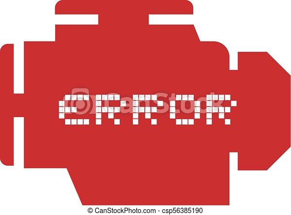 Creative design of error motor symbol.