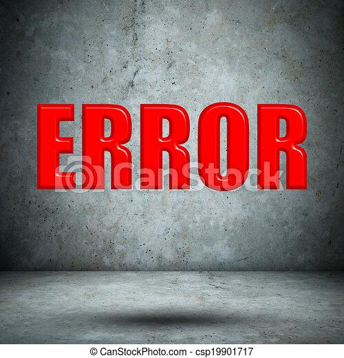 error on concrete wall - csp19901717