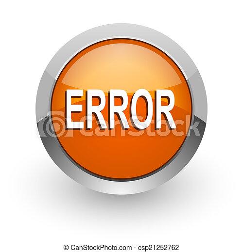 error orange glossy web icon - csp21252762